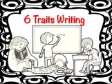 6 Traits Writing Poster Black White  (Silly Circle Collect