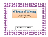 6 Traits of Writing Reference