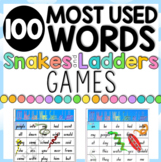 6 x 100 Most Used Words Snakes & Ladders Games - 7 pages
