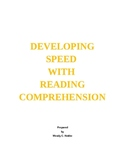 62PG.PKT.DEVELOPING SPEED WITH READING COMPREHENSION