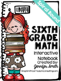 Sixth Grade Spiral Bound Full Year Interactive Notebook: T