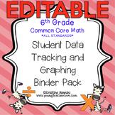 6th Grade Common Core: Math {Student Data Tracking Binder