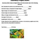 6th Grade Geometry Common Core Project