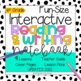 Interactive MINI Reading Journal 6th Grade CC