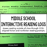 6th Grade Interactive Reading Log {Common Core Aligned}