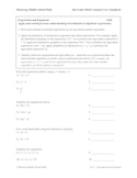 6th Grade Math Common Core Expressions and Equations Worksheets