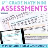 6th Grade Math Common Core Mini Assessments