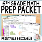 6th Grade Math Prep Summer Packet