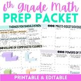 6th Grade Math Prep Summer Packet