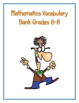 6th Grade Math Word Walls