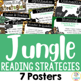 7 Reading Strategy Posters - Jungle Theme