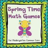 Spring Time Common Core Math Games (Kindergarten)