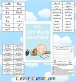 700 x K-6 Core Words Word Wall - 57 pages