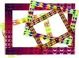70's Psychedelic Hippy Borders and Background graphics - C