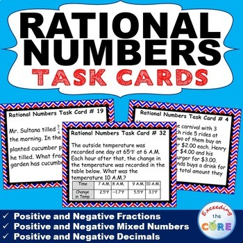 7th Grade RATIONAL NUMBERS - Fractions & Decimals - Task C