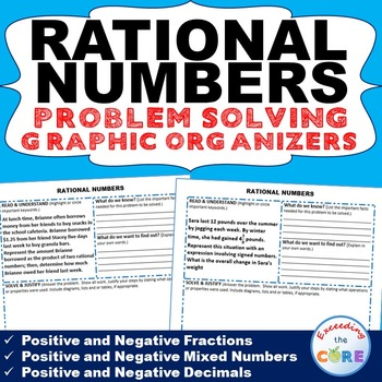 RATIONAL NUMBERS (Fractions & Decimals) Word Problem Graph