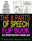 8 Parts of Speech Interactive Flip Book