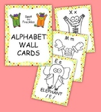 81/2 x 11 Alphabet Wall Cards featuring Spot and Freckles