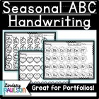 9 Seasonal Letter Printing Assessment Pages