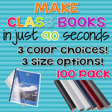 90 Second Book Creator Covers - 100 Pack {Steel Matt}