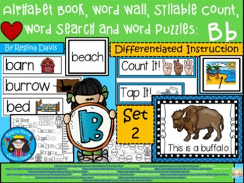 https://www.teacherspayteachers.com/Product/A-Alphabet-Book-Bb-Set-2-Word-Wall-Syllable-Count-Word-Search-Word-Puzzles-1912865