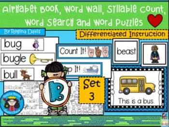 https://www.teacherspayteachers.com/Product/A-Alphabet-Book-Bb-Set-3-Word-Wall-Syllable-Count-Word-Search-Word-Puzzles-1916415
