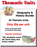 A Bundle - Geography & History Thematic Units