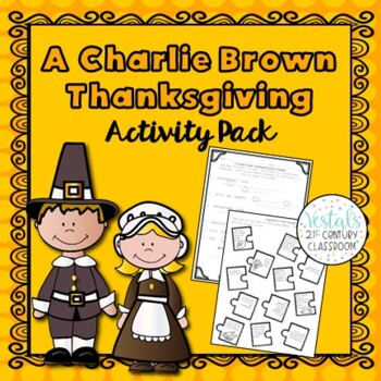A Charlie Brown Thanksgiving Activity Pack- 9 Activites Included!!