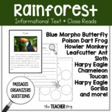 A Close Read- Rain Forest Animals