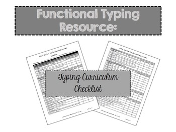 A Complete Typing Instructional Resource for Special Education, Autism or ABA