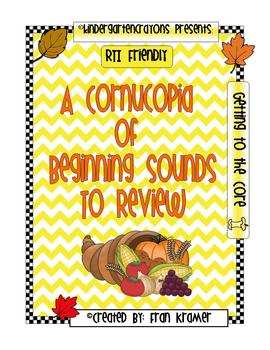 A Cornucopia of Beginning Sounds To Review