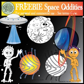 A Freebie Space Oddities Clipart Pack {Messare Clips and Design}