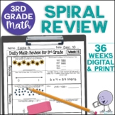 A Full Year of 3rd Grade Daily Math Spiral Review * Common