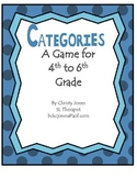 ELA- VOCABULARY - A GAME OF CATEGORIES