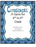 ELA- VOCABULARY - A GAME OF CATEGORIES