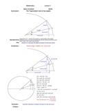 A Geometric Derivation of the Trigonometric angle sum formulas