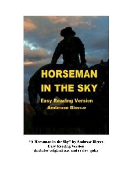 A Horseman in the Sky - Easy Reading Version