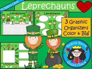 A+ Leprechauns... Three Graphic Organizers