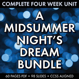 A Midsummer Night's Dream Unit Plan, FIVE WEEKS of Beautif