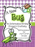 A New Bug ~ An Informative Writing Project & Craftivity