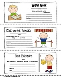 FREEBIEL Stick Kid Themed Parent-Teacher Notes