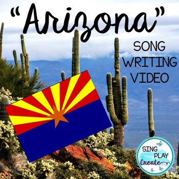 """ARIZONA State Facts Song""""A-R-I-Z-O-N-A"""" *VIDEO *MP3 TRACKS"""