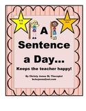 A Sentence A Day (Sentence Work for K-1)