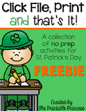 Click File, Print {and that's it!} St. Patrick's Day Print