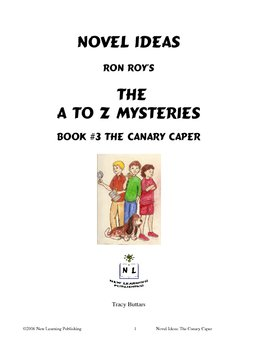 A to Z Mysteries: The Canary Capers- A Novel Study for You