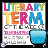 LITERARY TERMS FOR THE YEAR! Presentation With Modern Exam