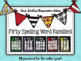 Fifty Spelling Word Families for An Entire Year for Kinder