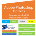 Semester bundle of Photoshop lesson plans for teens – grap