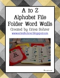 A to Z Alphabet File Folder Word Walls with Pictures