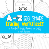 Alphabet Tracing Pages  - A Handwriting Phonics Resource Packet